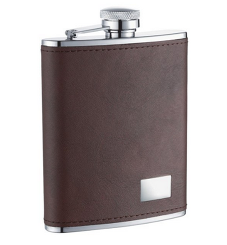 Monographed-Leather-Flask
