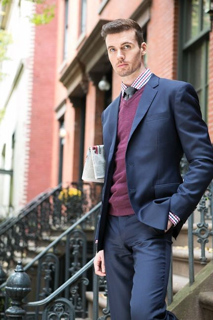 #suits do not have to be boring! Add some #color and you'll feel like a million bucks!