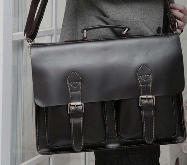 Leather Briefcase Laptop Men's Organizer