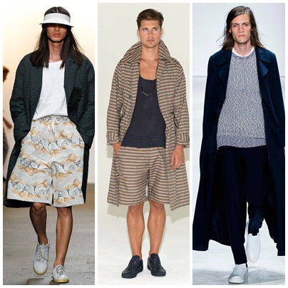 Left to right: designs by Billy Reid, Cadet, Ovadia & Sons.