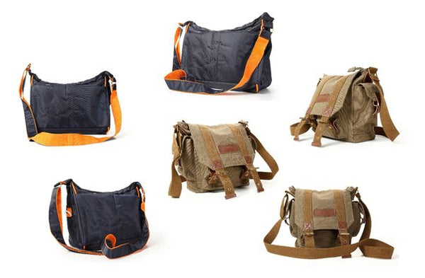 various models of messenger bags for men by Serbags