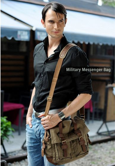 The staple Serbags military messenger bag for men