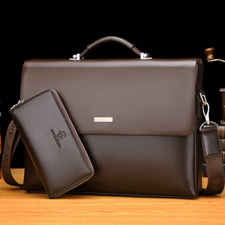 14.96 Inch Men s Briefcase Bag Business Bag Leather Laptop Bag Man Bag Handbag