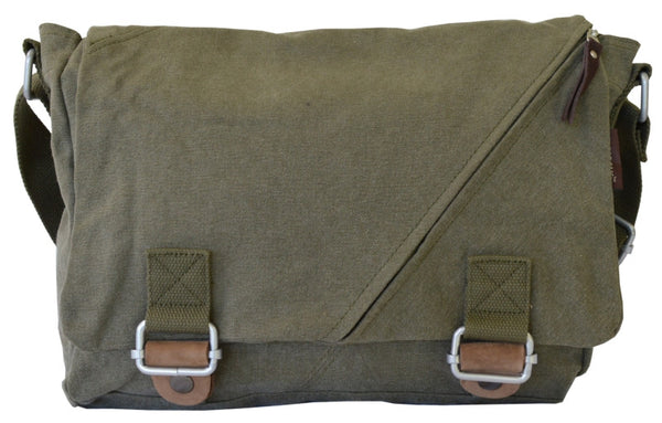 Army Green Courier Messenger Bag - Serbags  - 1