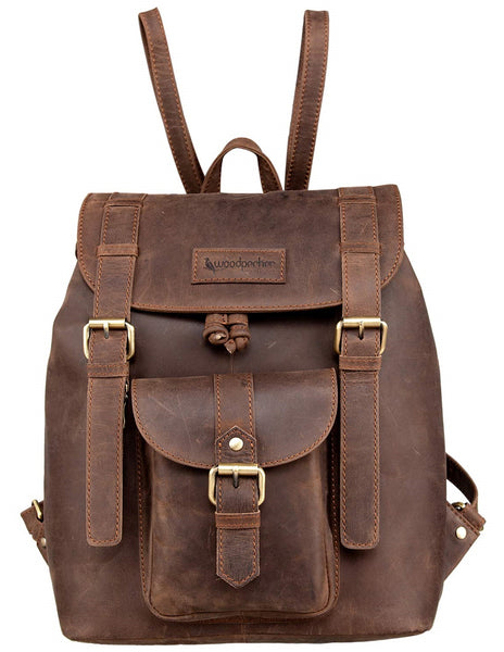 Top Quality Full Grain Real Cow Leather Men Women Backpack - Latest Design Casual and Formal Unisex Backpack