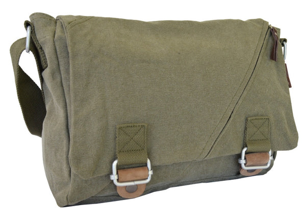 Army Green Courier Messenger Bag - Serbags  - 2