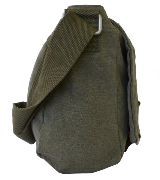 Army Green Courier Messenger Bag - Serbags  - 3