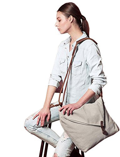 Canvas Hobo Crossbody Satchel Over the Shoulder Bag