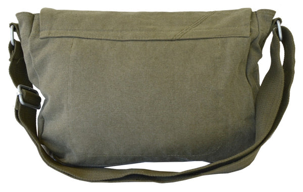 Army Green Courier Messenger Bag - Serbags  - 4