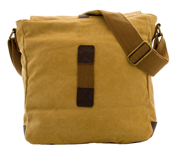 Vintage Canvas & Leather Sturdy Vertical Bag - Serbags  - 7