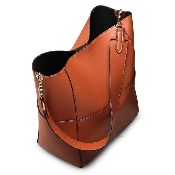 Ladies' Fashion Urban Vintage Genuine Leather Tote Bag Shoulder Handbag Purse