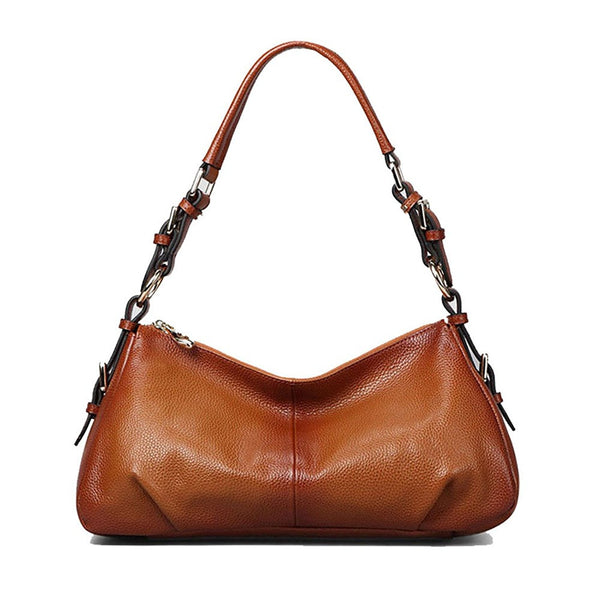 Ladies' Vintage Genuine Leather Hobo Shoulder Handbag