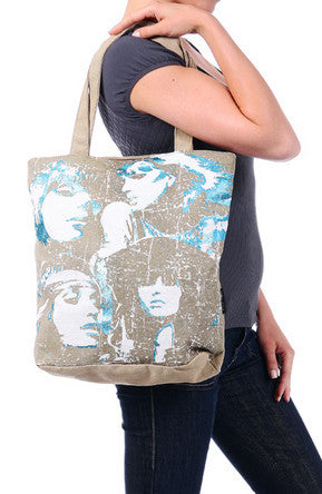 Faces Khaki Canvas Tote Bag for Women - Serbags  - 6