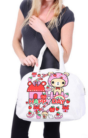 Happy Day Canvas Tote Bag - Serbags  - 6