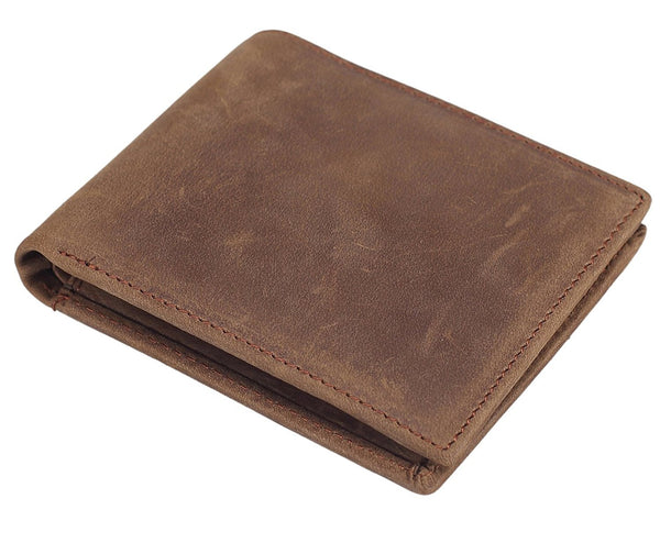 Bifold Wallet Handmade Genuine Leather Vintage