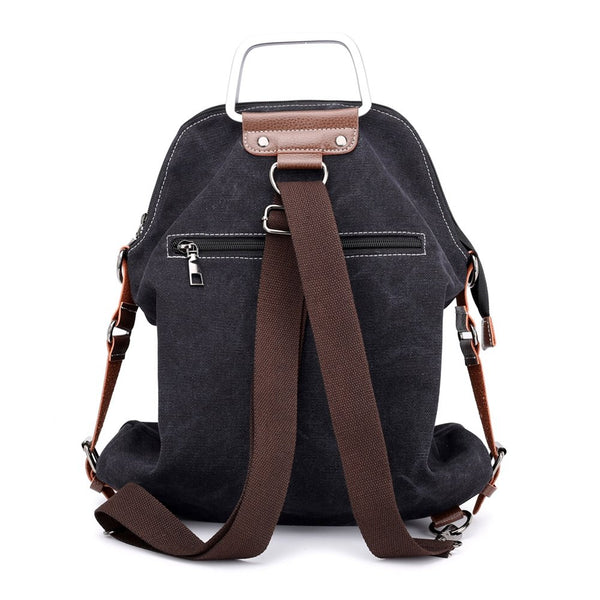 Canvas Backpack For Women School College Travel Laptop Portable Rucksack