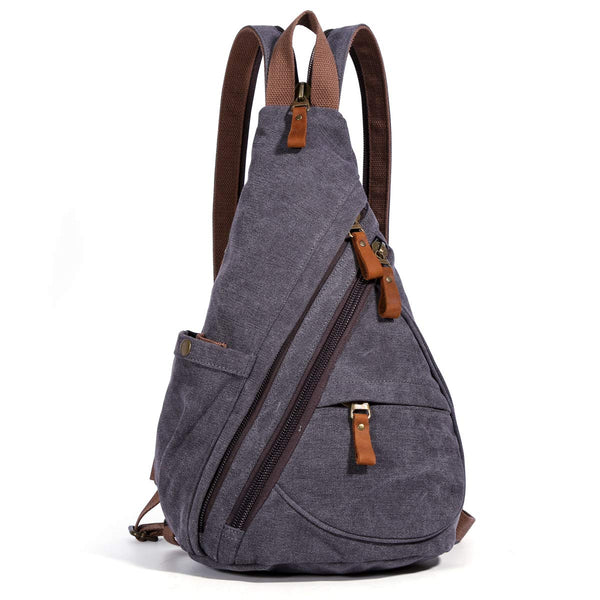 Canvas Small Crossbody Backpack Shoulder Casual Daypack