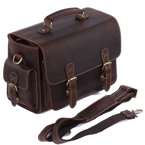 Vintage Genuine Leather DSLR SLR Camera & Shoulder Bag