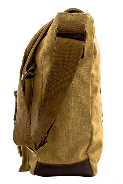 Vintage Canvas & Leather Sturdy Vertical Bag - Serbags  - 5