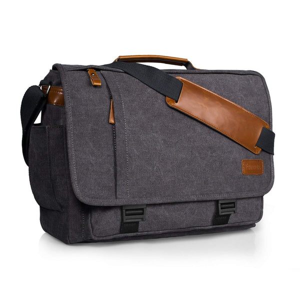 15.6inch  Messenger Bag Water-Resistant Canvas Laptop Shoulder Bag