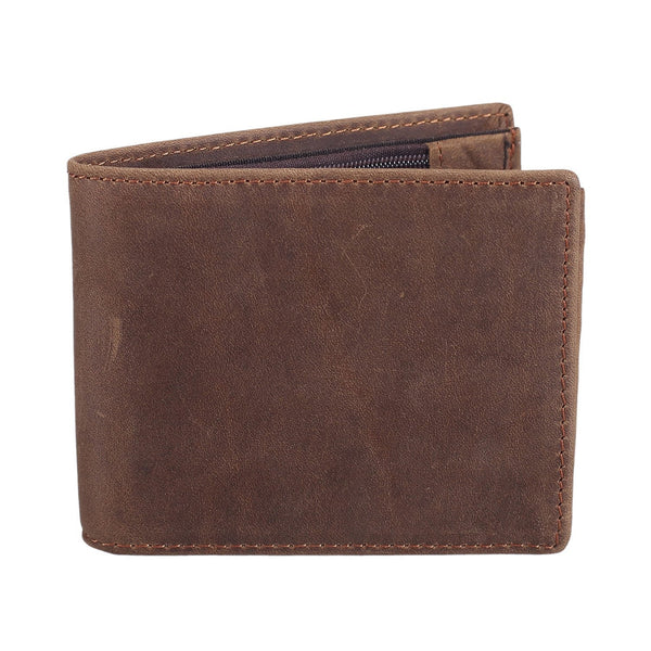 Men's RFID Blocking Cowboy Genuine Leather Bifold Wallet