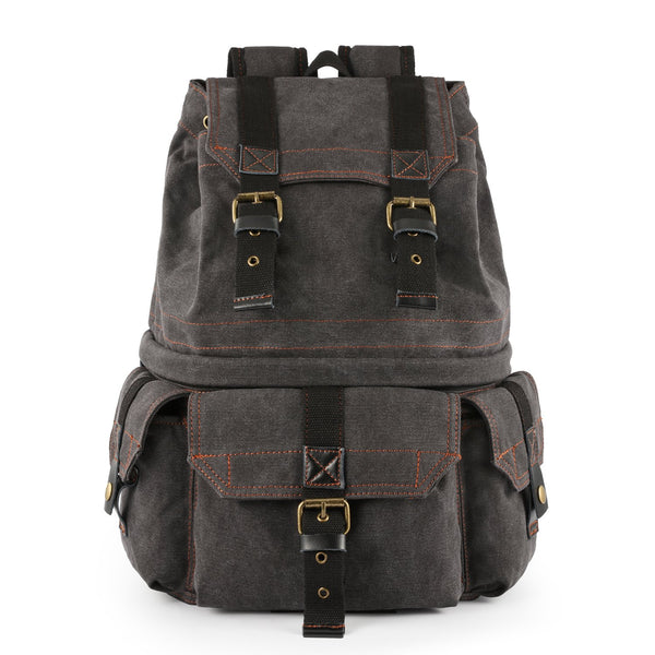 Military Style Canvas DSLR SLR Camera Backpack Rucksack