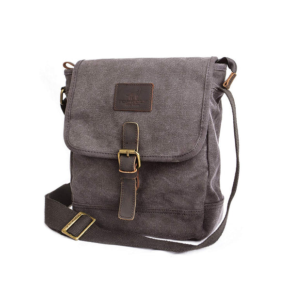 Canvas Messenger Bag  Small Crossbody Bag Casual Travel Working   Shoulder Bag