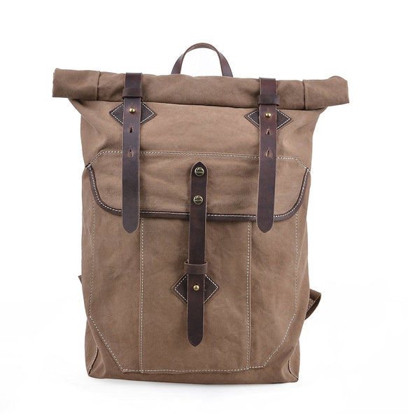 Vintage Washed Canvas Outdoor Travel Backpacking Backpack/ 15-inch Laptop Day Bag Rucksack
