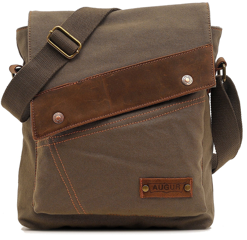 0c48241bca Small Vintage Canvas Shoulder Bag Messenger Case for Ipad Travel Portfolio  Bag