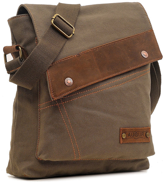Small Vintage Canvas Travel Bag With Satchel