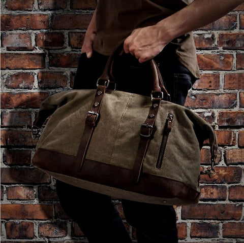3731c79fc63b2c A premium quality duffle bag that has the design of canvas and accented  with the luxury of genuine leather. The style of this duffle bag is unique  and ...