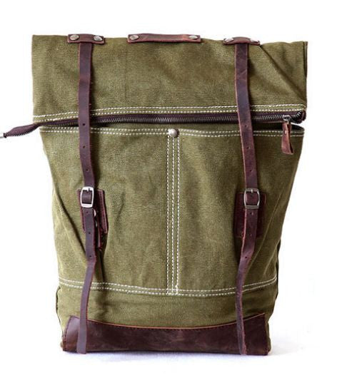 Army Green Premium Old-Fashioned Rucksack