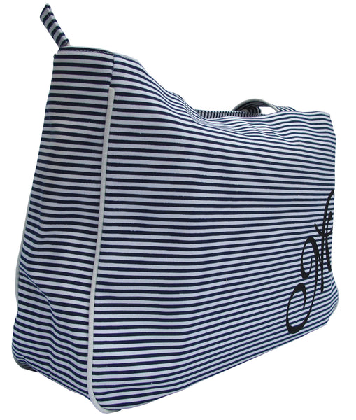 Zebra Blue Striped Tote Bag - Serbags  - 2