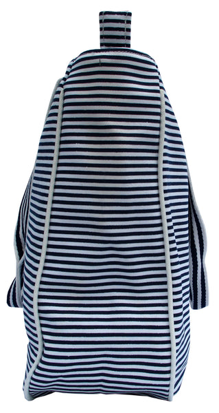 Zebra Blue Striped Tote Bag - Serbags  - 4