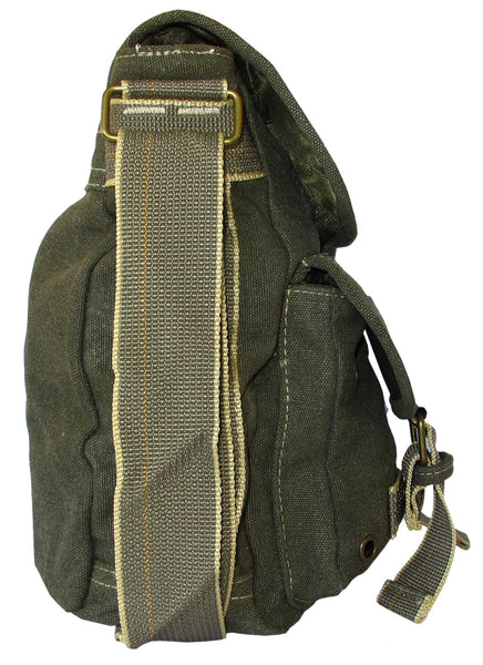 Green Classic Army Messenger Heavy Weight Shoulder Bag - Serbags  - 3