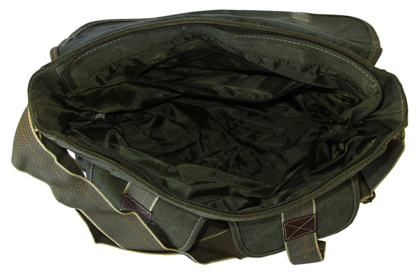 Green Classic Army Messenger Heavy Weight Shoulder Bag - Serbags  - 5