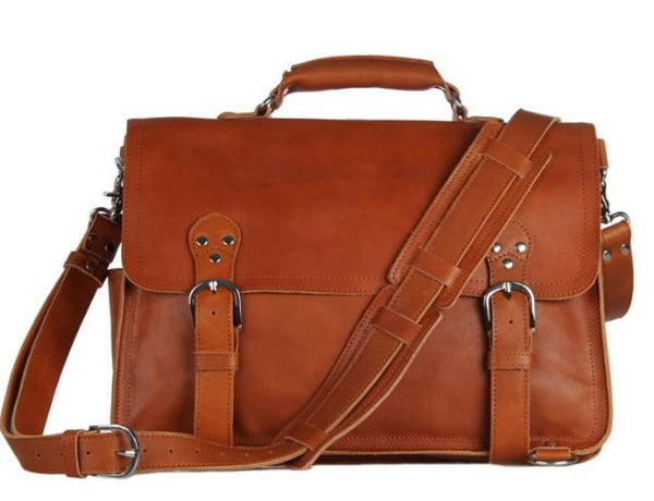 Convertible Genuine Leather Briefcase & Backpack