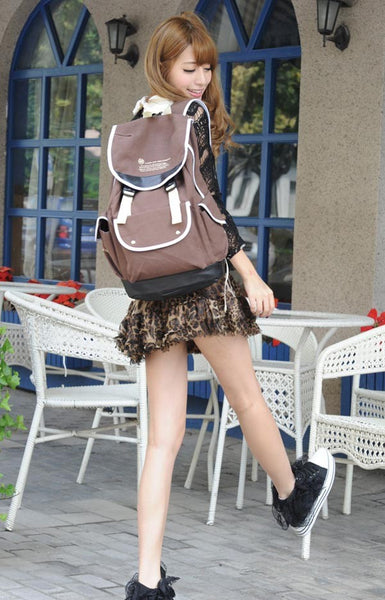 Canvas Backpacks for Girls - Brown