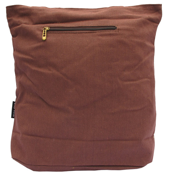Brown Canvas Tote Bag for Women - Serbags  - 2