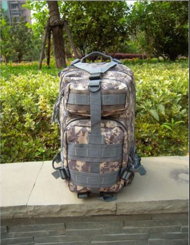 Camouflage Outdoor School Hiking Backpack Oxford Cloth Nylon - Serbags  - 3