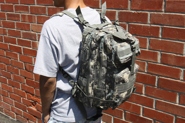 Camouflage Outdoor School Hiking Backpack Oxford Cloth Nylon - Serbags  - 4