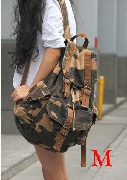 Military print full-canvas camo backpack by SerBags