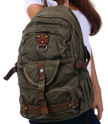 Canvas Heavyduty school backpack by Serbags