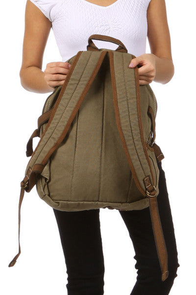 Canvas Lightweight Multi-compartment Utility Backpack - Serbags  - 11