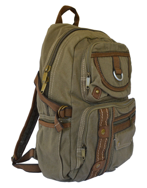 Canvas Lightweight Multi-compartment Utility Backpack - Serbags  - 4
