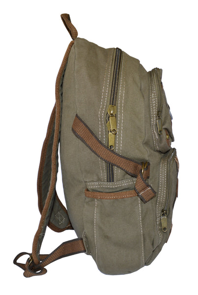 Canvas Lightweight Multi-compartment Utility Backpack - Serbags  - 5