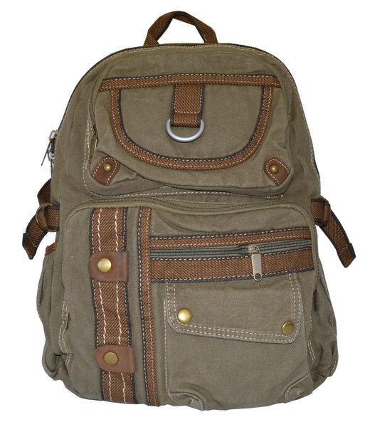 Canvas Lightweight Multi-compartment Utility Backpack - Serbags  - 3