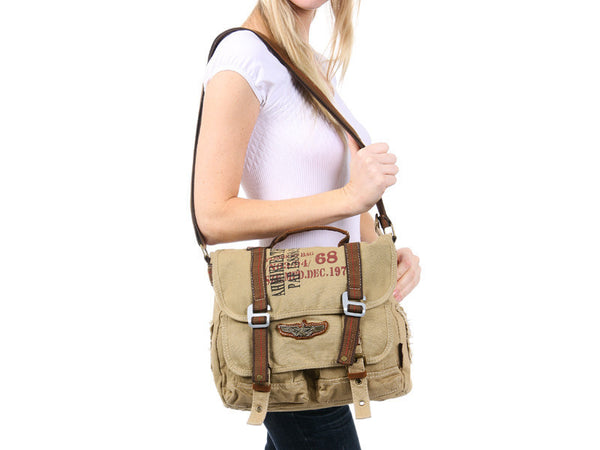Military Canvas Bike Messenger Bag - Larger Version - Serbags  - 8