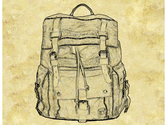 Large Canvas Leather Hiking Outdoor Travel Backpack - Serbags  - 18