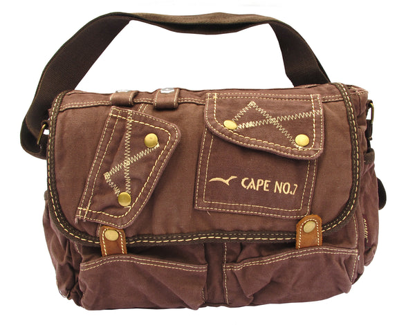 Brown Shoulder Canvas Messenger Bag - Serbags  - 1
